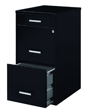 E Solutions Metal File Cabinet With Pencil Drawer And Lock 4 Cabinets