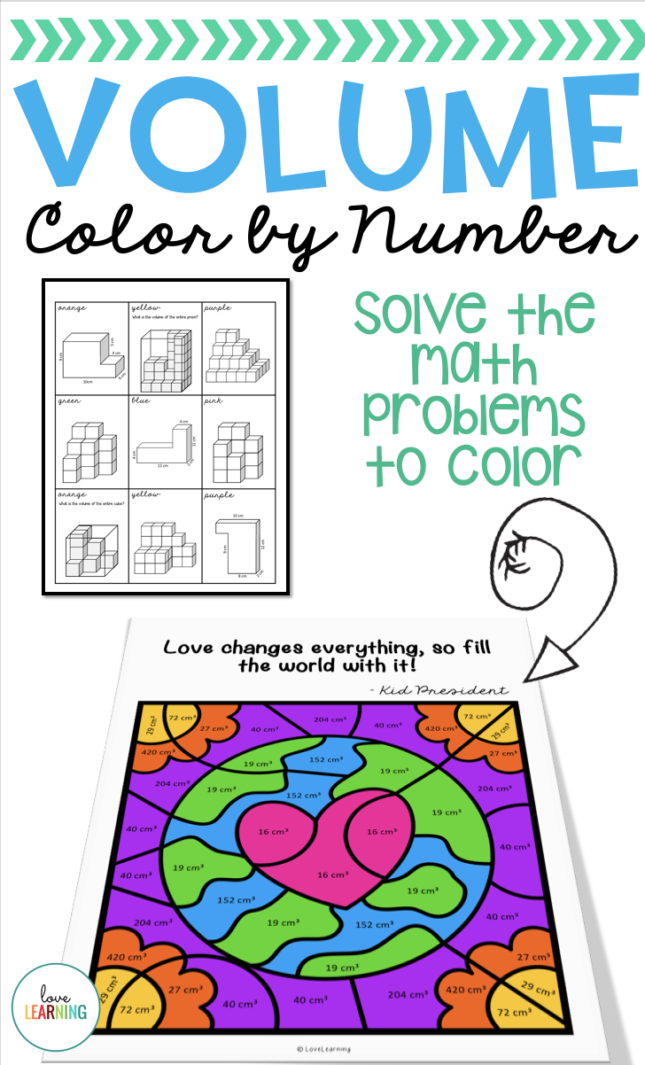 Volume Of Composite Figures Color By Number Math Activities I Love Math Teaching Math Elementary [ 1202 x 728 Pixel ]