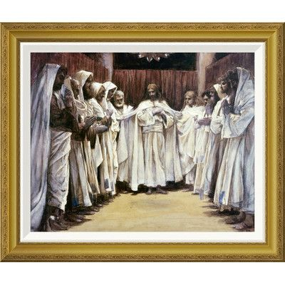 Global Gallery 'Last Discourse of Our Lord Jesus Christ' by James Tissot Framed Painting Print Size: