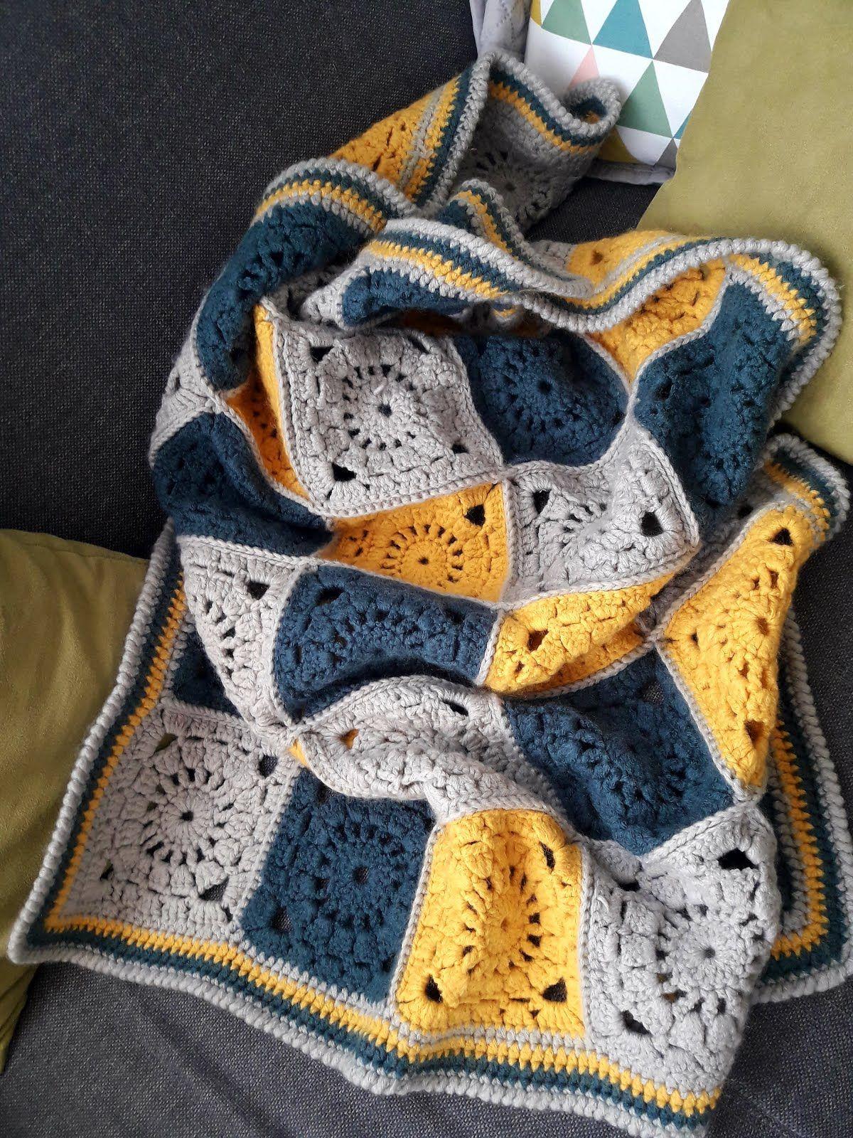 tuto couverture au crochet en granny square | I Love Crochet #20 ...