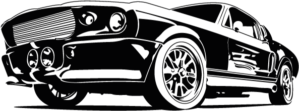 Google Image Result For Https Www Jing Fm Clipimg Full 28 288478 Vinilos Coches Ford Mustang Png Silhouette Png Clipart Black And White Mustang Ford Mustang