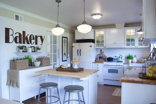 White Colored Of Country Kitchen Island  Lovely Design Of Country Kitchen Island