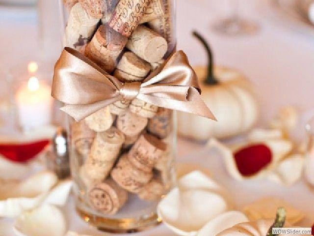 Wine Cork Centerpieces Design Decoration
