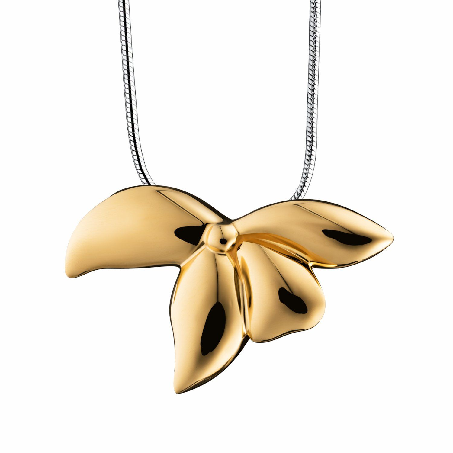 Photo of Orchid Gold Vermeil Pendant Sterling Silver Cremation Jewelry