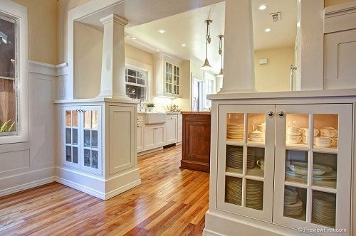 I can see opening up the wall between kitchen and dinning ...