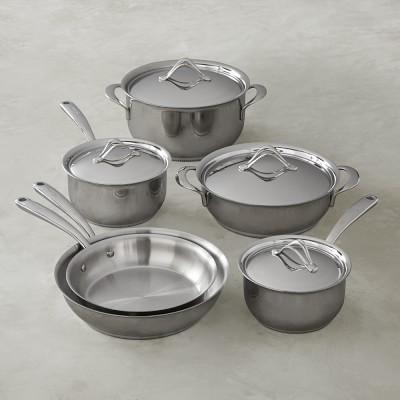 Lagostina Opera Stainless Steel 10 Piece Cookware Set Cookware Set Lagostina Cookware And Bakeware