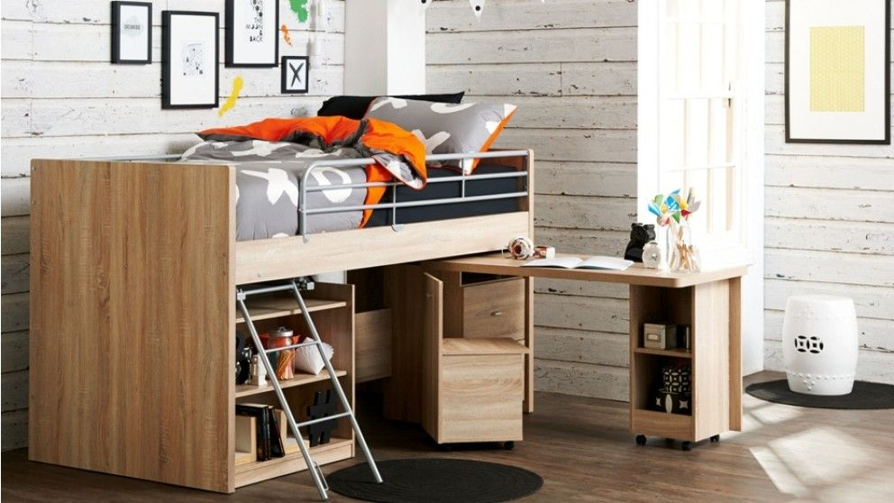 Your Child Will Always Get The Top Bunk With Gorgeous Bailey Single Mini Sleeper Bed That Not Only Adds Storage E But Comes A Pull Out Desk And