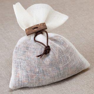gauzy fabric favor bags