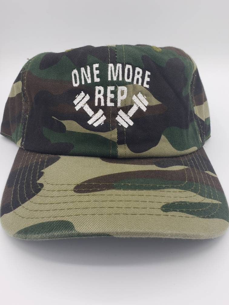 23ad4bfc2efb9 One More Rep Mom Dad Cap Hat in 2019