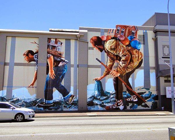 Street Art In Perth Australia By Australian Artist Fintan Magee Murals Street Art Street Art Best Street Art