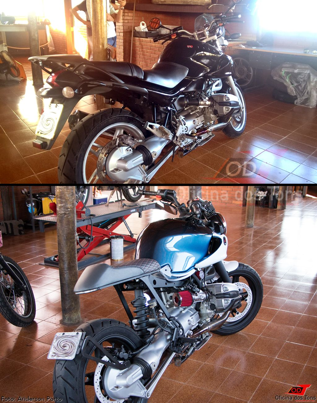 Bmw R1150 Cafe Racer By Oficina Dos Tons Before After Bmw