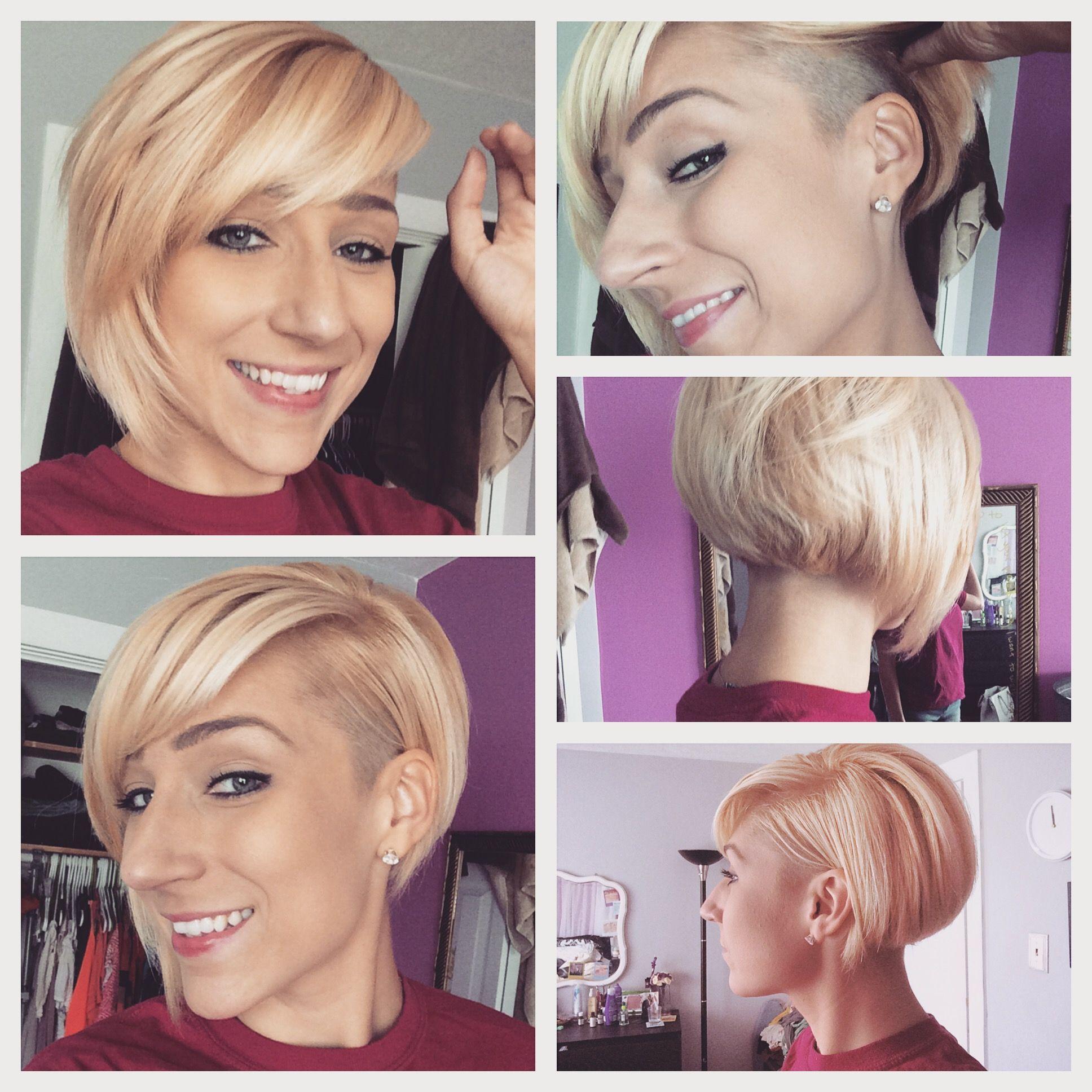 Side shave asymmetrical bob for thick hair | Bob hairstyles for thick, Thick hair styles, Happy hair