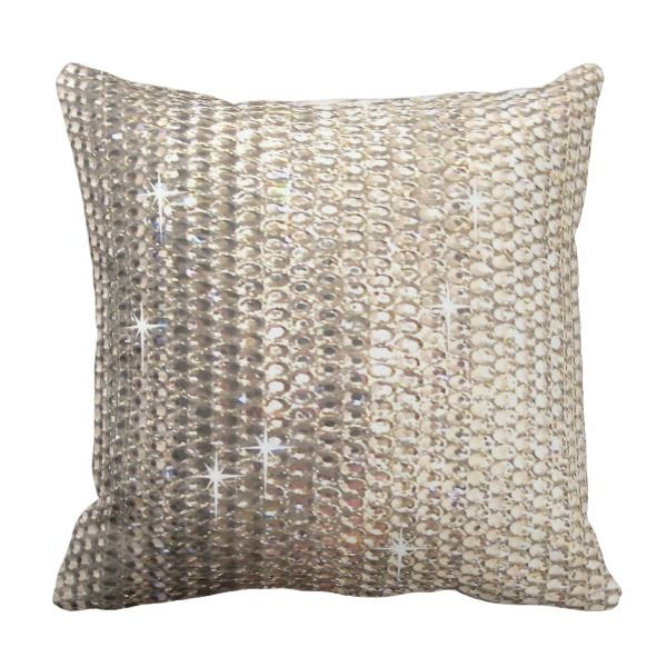 Gold Rhinestone Design Throw Pillow Throw Pillows And Pillows Interesting Rhinestone Decorative Pillows