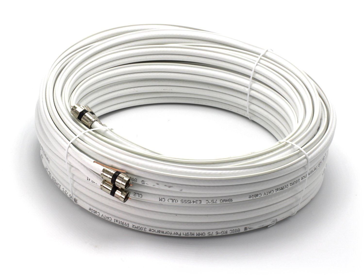 150ft Dual with Ground RG6 Coaxial Made in the USA
