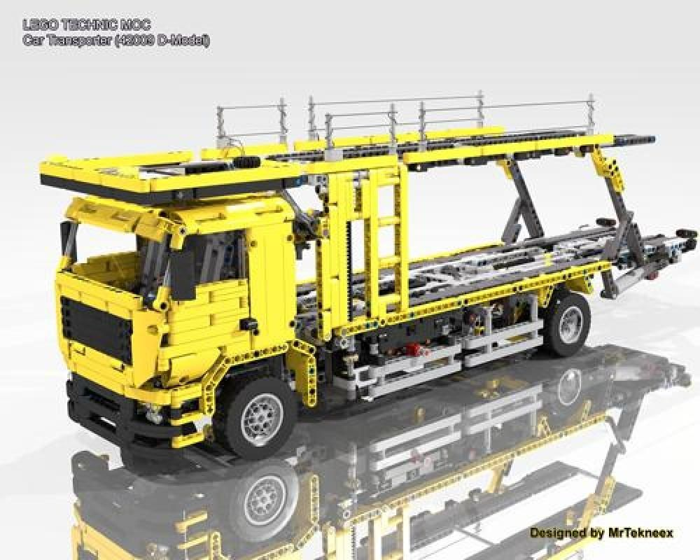 Lego Moc Moc 4075 Car Transporter 42009 D Model Building