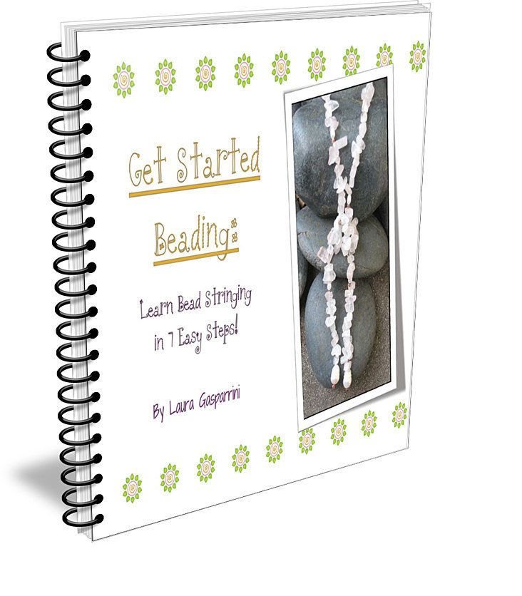 Get Started Beading: Learn Bead Stringing in 7 Easy Steps! Book, Learn to bead book, Jewelry making, Jewelry tutorials, jewelry design book by omtarabead on Etsy