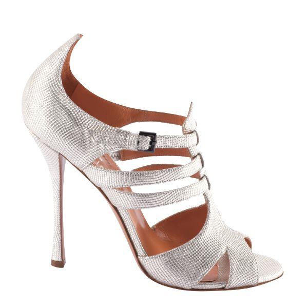 f6ac3da46a47 Silver strappy sandal by Edmundo Castillo