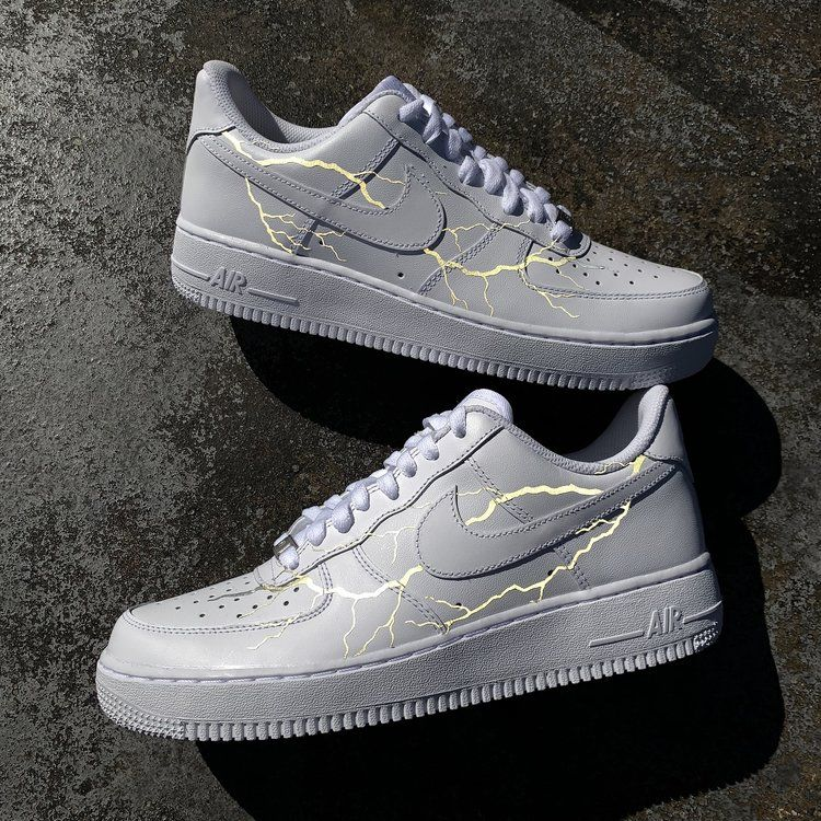 Details zu REFLECTIVE LIGHTNING NIKE AIR FORCE 1 (CUSTOM SNEAKER)