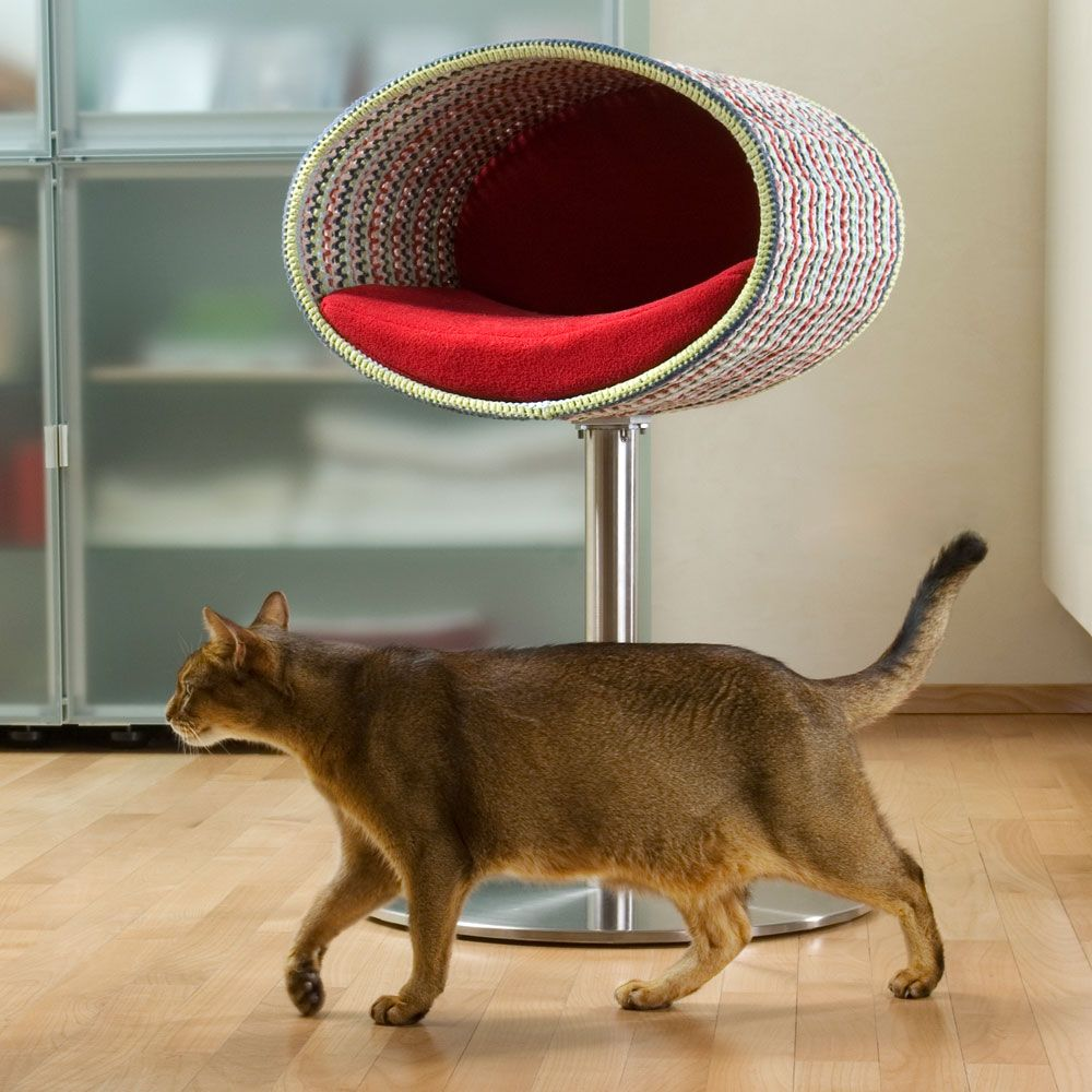 modern design cat furniture. Rondo Stand Crochet The Compelling Choice Thanks To Its Timeless Design! Contemporary Cat Furniture Rondo, A Puristic Tree And Condo. Modern Design E
