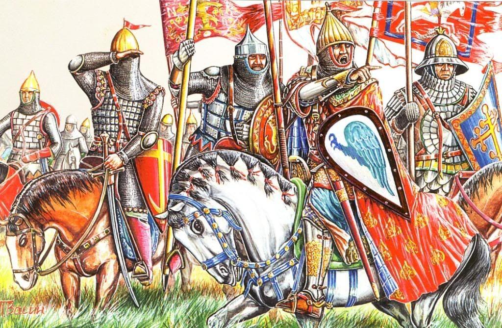 картинки русский воин средневековья раз это