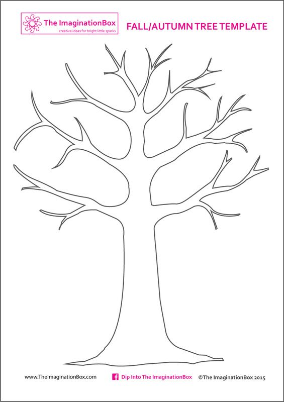 picture relating to Printable Trees named Print this absolutely free Tree Template versus The ImaginationBox in direction of