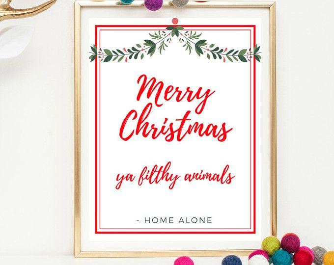 Christmas Wall Art Printable - Home Alone Printable - Christmas ...