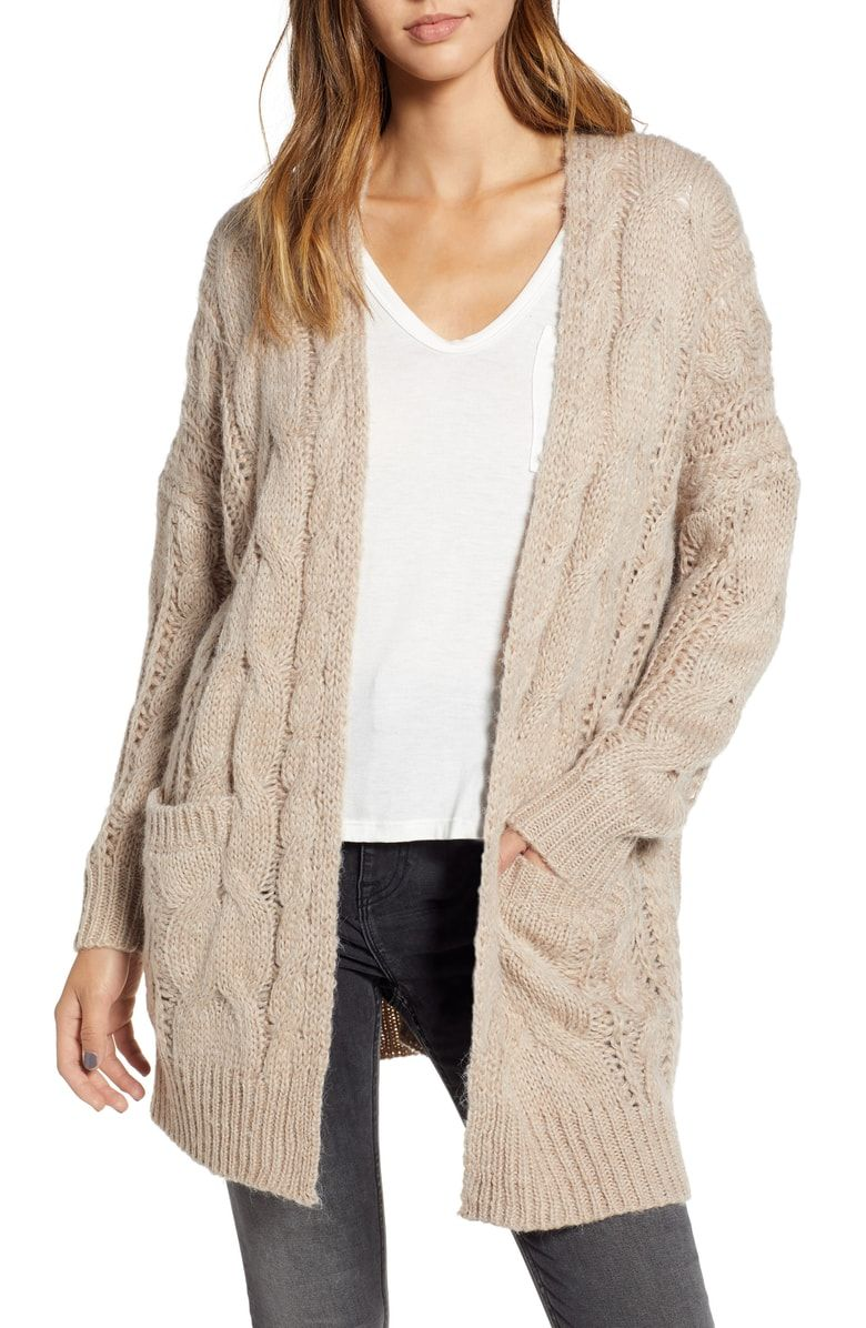 9d2968c5c9 Free shipping and returns on Dreamers by Debut Chunky Cable Knit Cardigan  at Nordstrom.com. Super-chunky cables offer a playful twist on a classic  style in ...