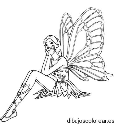 Dibujo de una hada soadora  dibujos  Pinterest  Blackwork