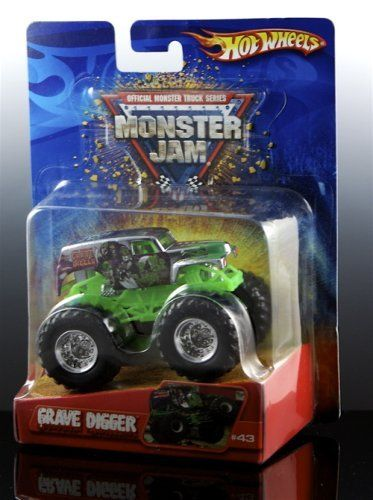 Chrome Grave Digger Hot Wheels Monster Jam Truck By Mattel 24 77 Rare Chrome Body Design 1 64 Scale Monster Trucks Hot Wheels Monster Jam Play Vehicles