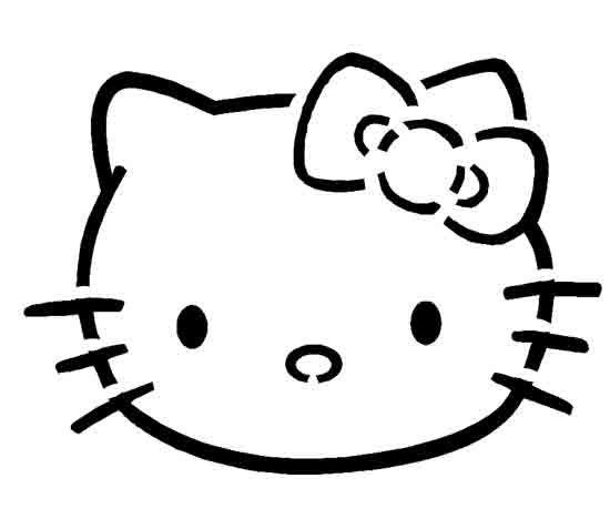 PUMPKIN CARVING TEMPLATES HELLO KITTY STENCIL