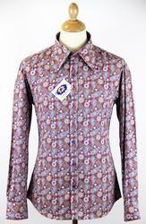 Madcap England Empire Retro 60s Mod Paisley Beagle Collar Shirt