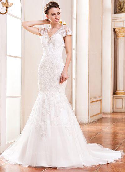 vestidos de novia corte trompeta de encaje – los vestidos de noche