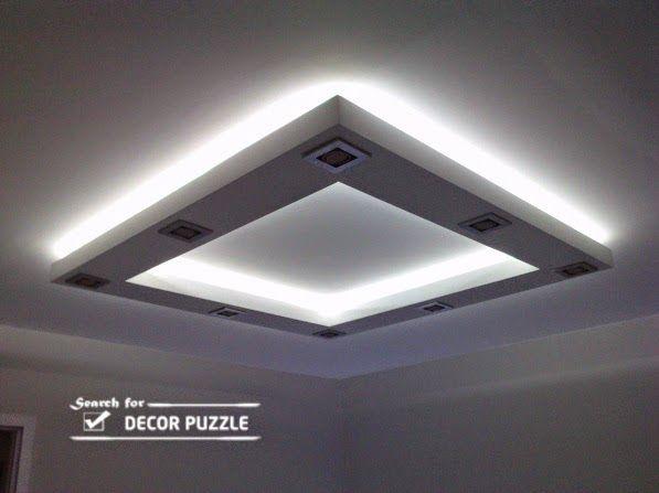 Suspended gypsum board ceiling designs false ceiling for Gypsum board design catalogue