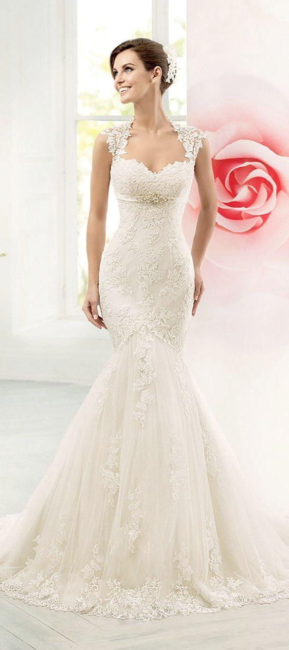Lace wedding dresses monsoon blush lace strapless wedding dress