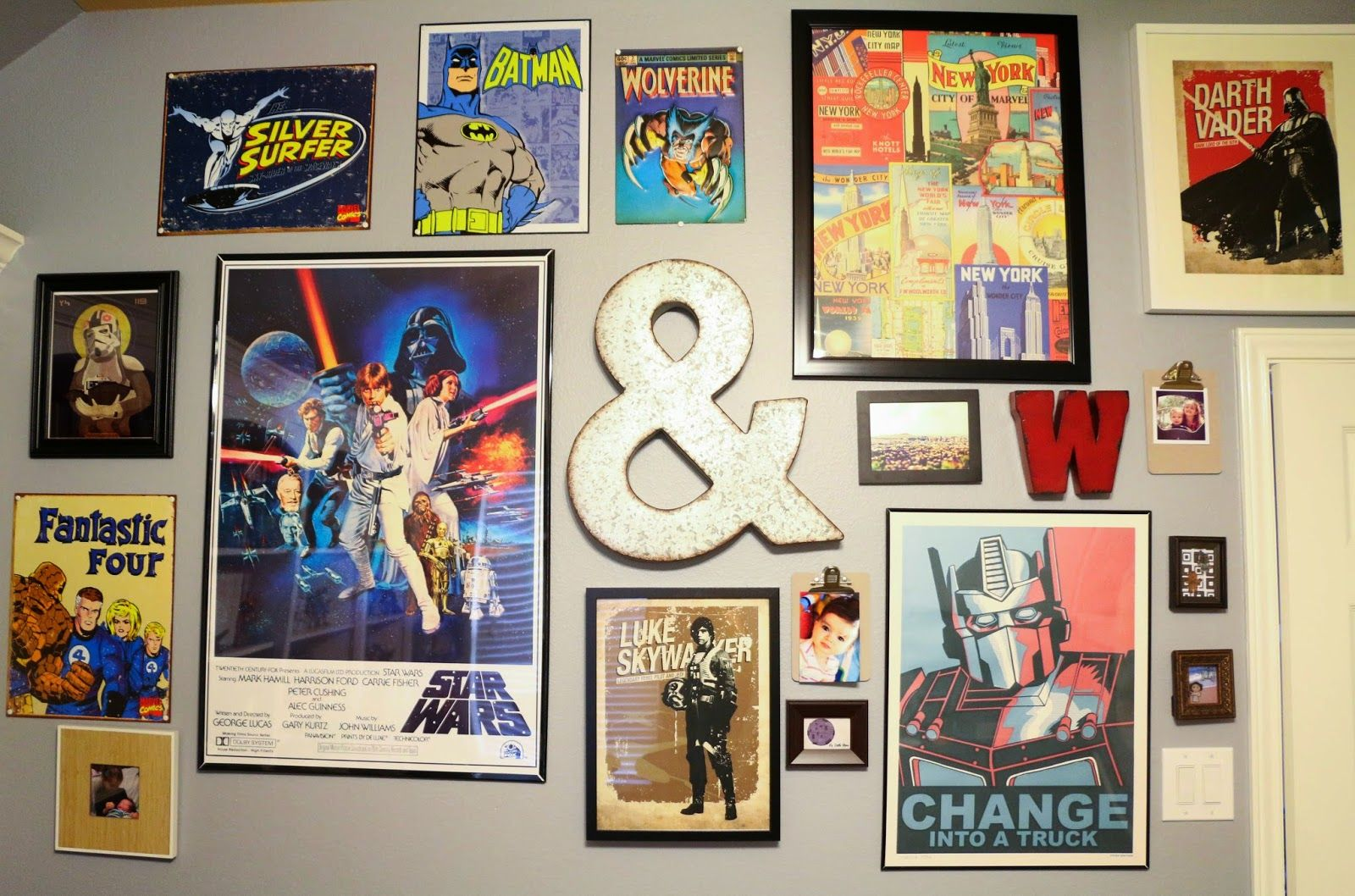nerdy office decor. A Kailo Chic Life: Gallery Wall Wednesday - The Nerd Cave Office Nerdy Decor E