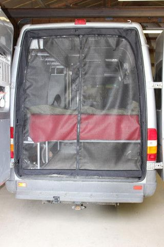 Caravan Magnetic Fly Door Insect Mesh camper van camping Net Screen Bug Curtain