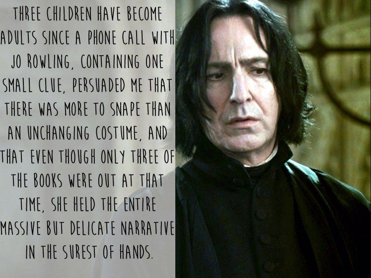 Alan Rickman Movie Quotes: 13 Of The Most Beautiful And Moving Things Alan Rickman