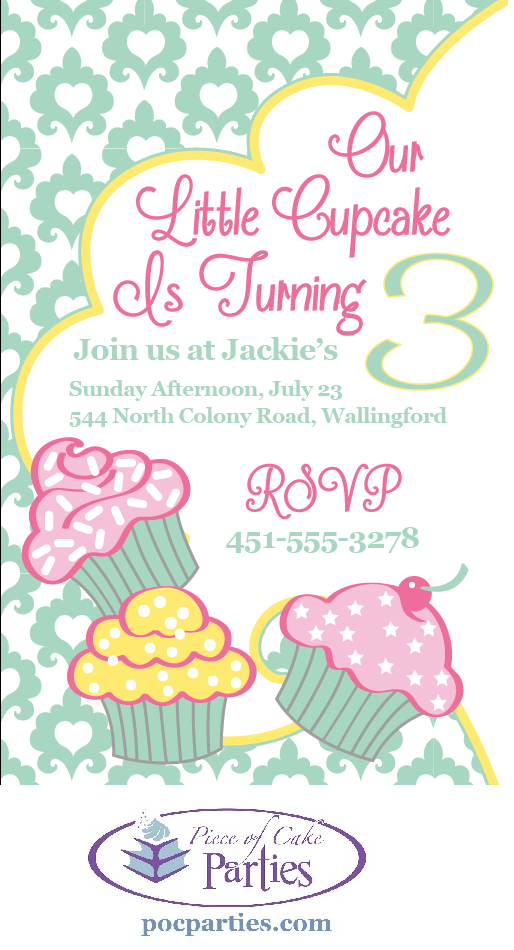 Cupcake birthday party invitation. By Piece of Cake Parties ...
