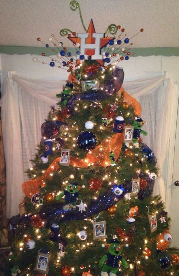 houston astros theme tree christmas tree decorating tips themed christmas trees xmas trees - Houston Christmas Decorating Service