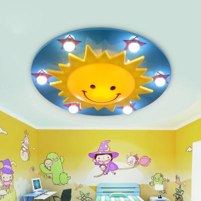 Creative Cartoon Sun Led Night Light Kids Baby Children Stars Celling Lamps Child Study Room Light Night Light Kids Ceiling Decor Pop False Ceiling Design