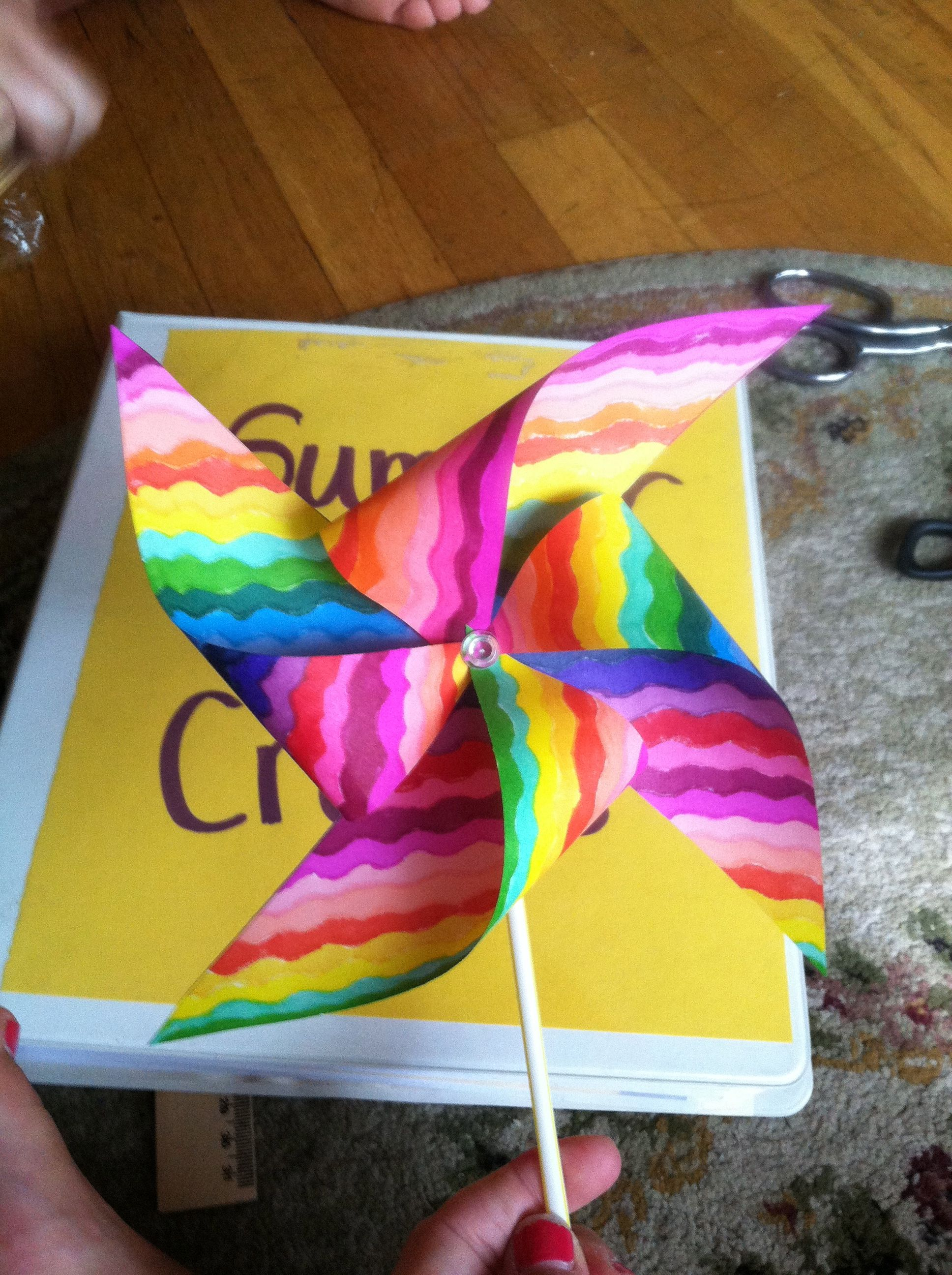 Summer Camp Craft Paper Pinwheels With Images