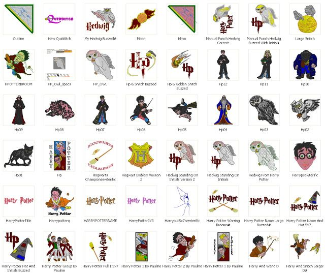 Free Machine Embroidery Designs Download Harry Potter 113 Embroi