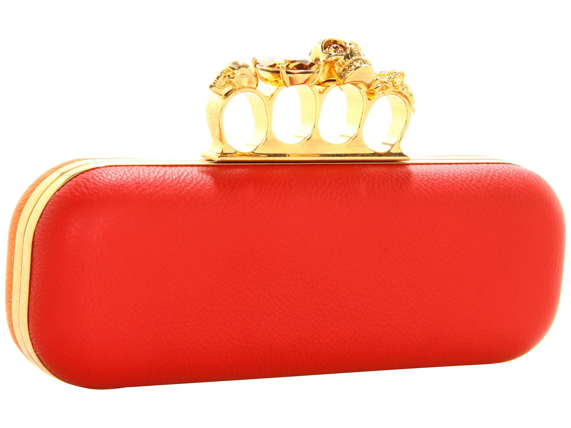 Alexander McQueen Knuckle Box Clutch Shiny