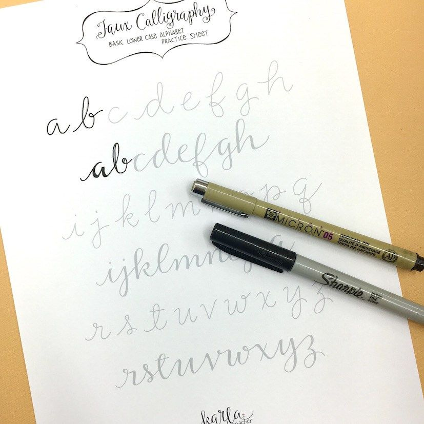Faux Calligraphy Tutorial Faux Calligraphy Fake Calligraphy Faux Calligraphy Alphabet