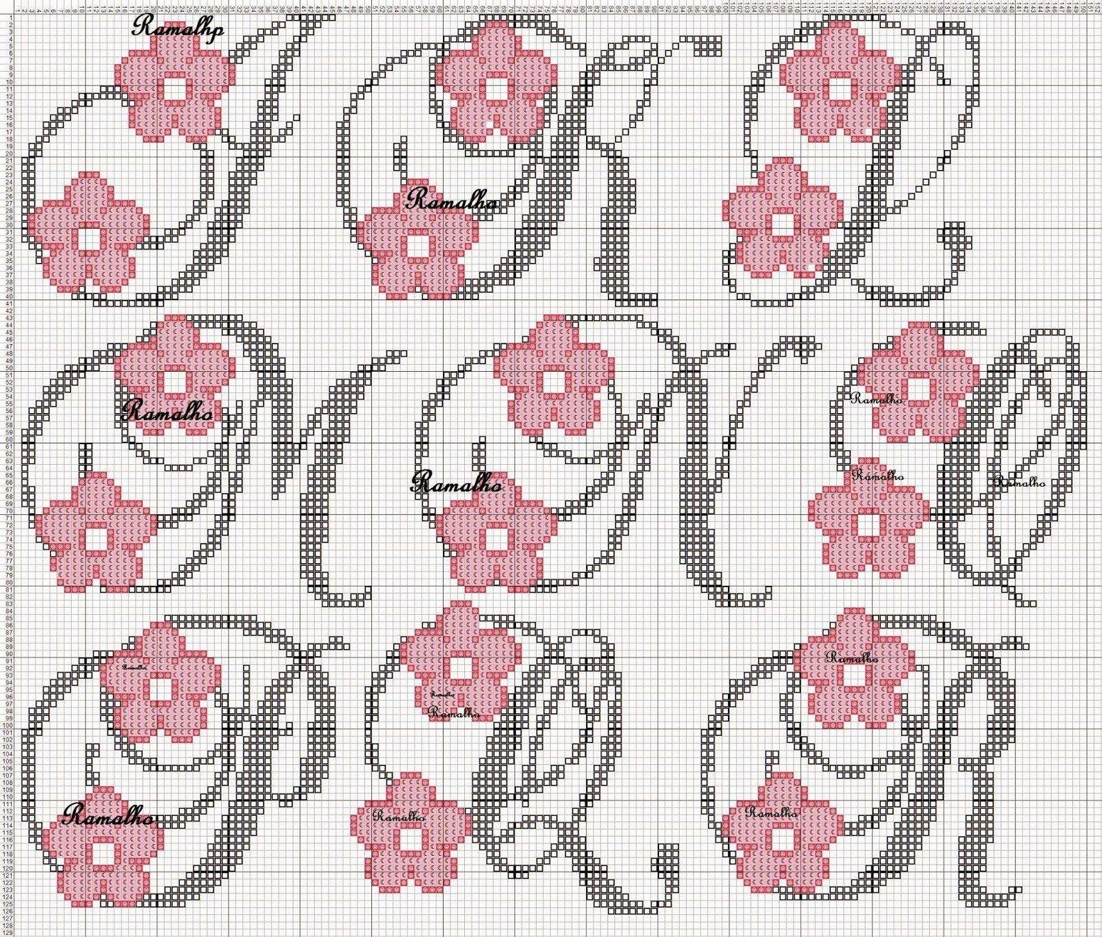 Ramalho C Rosa Ponto Cruz Monogramas Em Ponto Cruz Alfabeto