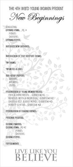 Young Women New Beginnings Program Young Women\u0027s Pinterest