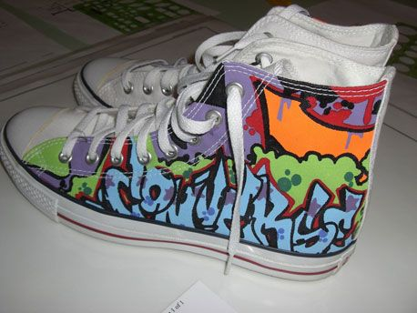And Painted Cope2 Cope2 ShoesGraffitiSneakers And ConverseChucks BeQWCxord