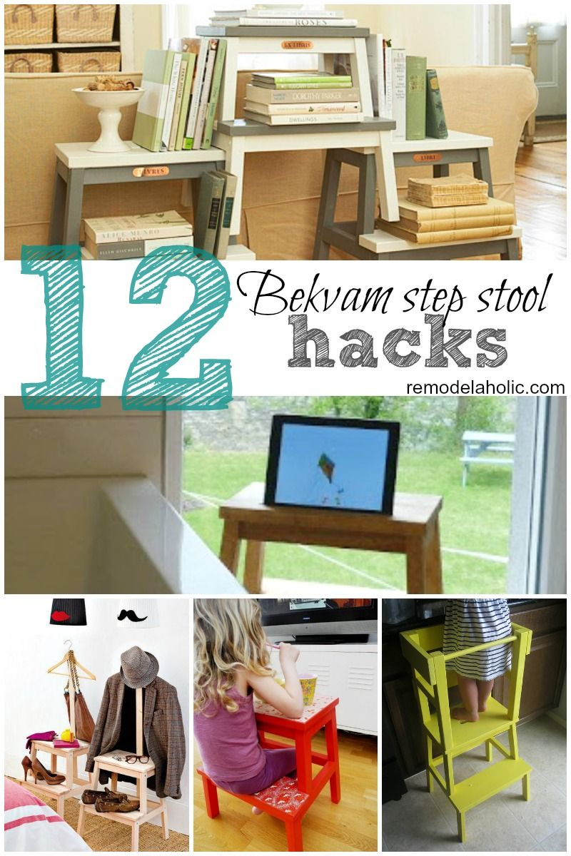 Ikeaus bekvam step stool is cute portable and very hackable here