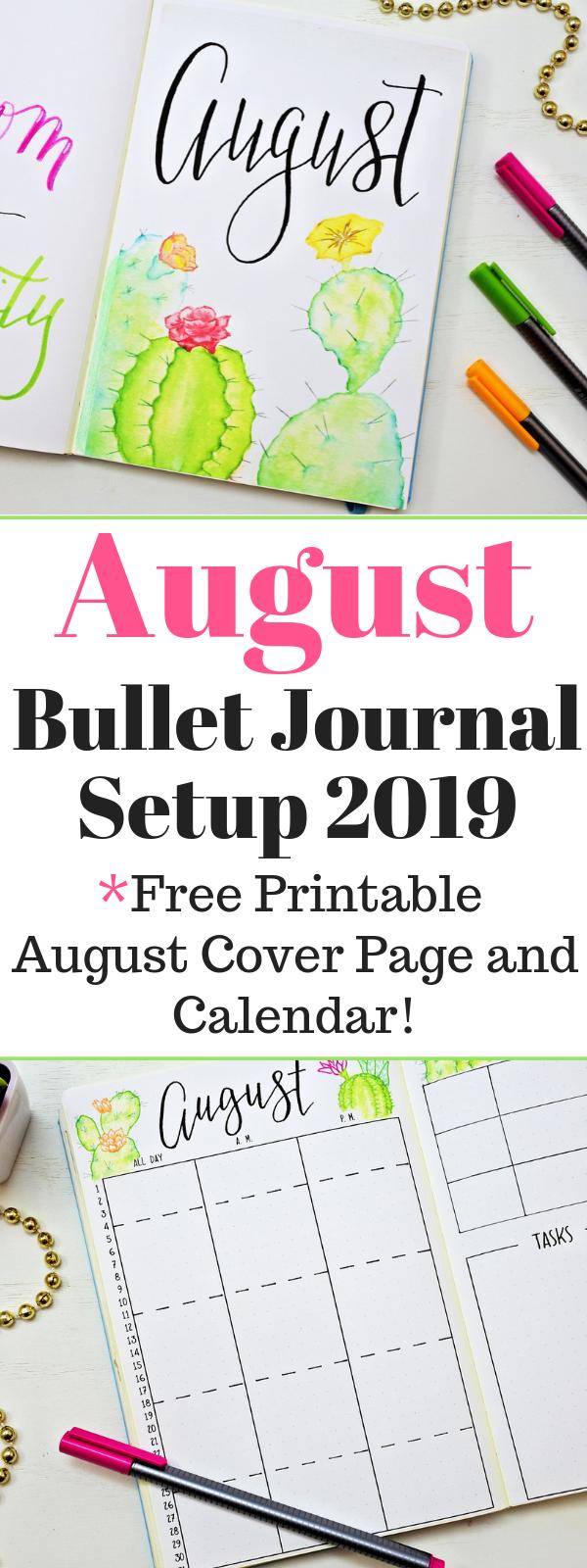 August Bullet Journal Setup #augustbulletjournal