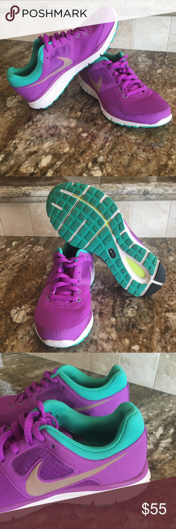 49c9e0ec887f Women s Nike LunarFly 4 Laser Purple   Metallic Red Brnz Like new without  box Nike Shoes Sneakers